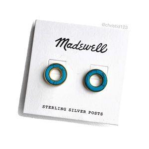 Madewell Desert Sunset Circle Stud Earrings